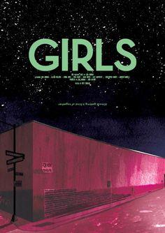 Girls HBO Digital Illustration via @Mete Erdogan