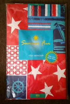 Nautical Vinyl Tablecloth 60 in Round Elrene Buoys Ships Coastal | Home & Garden, Kitchen, Dining & Bar, Linens & Textiles | eBay!