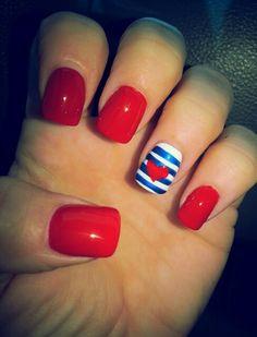 My july 4th nails