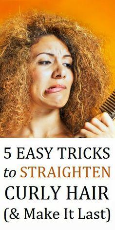 5 Easy Tricks to Straighten Curly Hair (& Make It Last)
