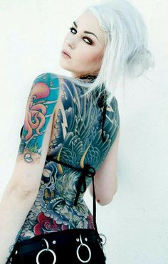Suicide Girl - #ink #tattoo...always have loved these girls!