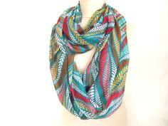 oversized scarf  paisley green scarves  mint infinity by asuhan, $20.00