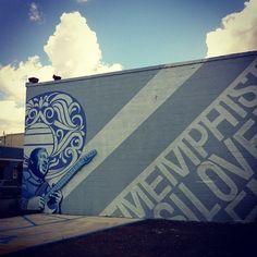 New mural, Marshall Ave. #memphis #art by ilovememphis, via Flickr