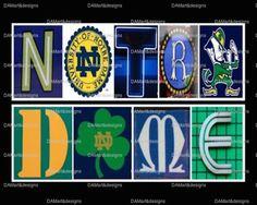 Notre Dame Framed Alphabet Photo Art by DAMartStudio on Etsy