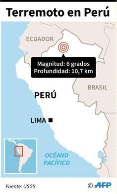 Sismo de 6,2 grados en Perú remece también a Colombia y Ecuador