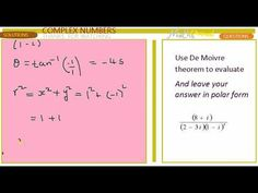 COMPLEX No De Moivre theorem Complex Numbers, Good Grades, Periodic Table, Knowledge, This Or That Questions, Periodic Table Chart, Facts