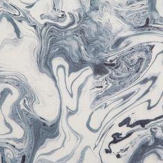 Rebecca Atwood Marble Sea Blue Fabric