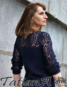Summer Knitting, Lace Knitting, Knitting Stitches, Knitting Patterns, Mohair Sweater, Knit Cardigan, Crochet Jacket, Knitwear Fashion, Crochet Motif