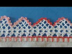 Bico de crochê carreira única #118 para panos de prato ou toalhas - YouTube