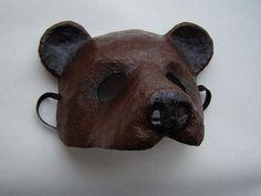 Masquerade mask Bear mask Animal mask Paper mache by EpicFantasy                                                                                                                                                                                 More
