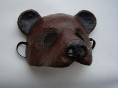 Masquerade mask Bear mask Animal mask Paper mache by EpicFantasy                                                                                                                                                                                 More