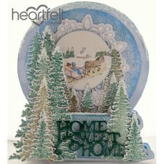 Heartfelt Creations - Home Sweet Home Snow Globe Card Project