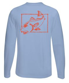 9ca9c4aaaca2 Redfish Performance Fishing Dry Fit shirts with Sun Protection offer a 50+  UPF rating for