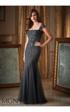 Evening Gown 71416 Intricate Beading on Net