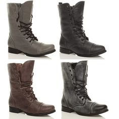 Combat style Military Boots £17.95 | SHOES | Pinterest | Military