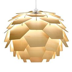 Modern Designer Style Layered Wood Artichoke Ceiling Pendant Light Shade MiniSun http://www.amazon.co.uk/dp/B00NXRUAH0/ref=cm_sw_r_pi_dp_bjbdxb0K0SWVJ