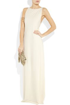 Clube Bossa couture stretch satin-jersey maxi dress shown with Aureille Bidermann cuff, Philippe Audibert bracelet and Anya Hindmarch bag. LOVVVVE the whole look!