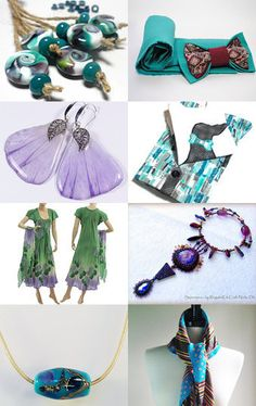 Turquoise and Lavender by Olga on Etsy--Pinned with TreasuryPin.com
