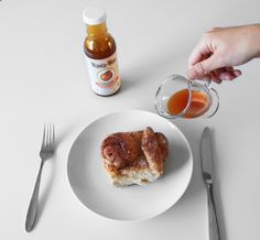 Morning Buns with Peach Syrup