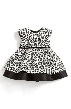 Definitely found Lilli's Christmas Dress!  Pippa & Julie Leopard Print Dress (Baby Girls) available at #Nordstrom