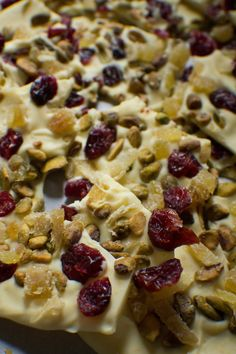 White Chocolate & Orange Bark with Cranberries, Ginger, and Pistachios ...