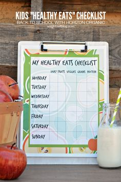 Kids Healthy Eats Checklist | anightowlblog.com