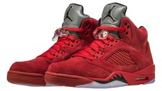 cb125caa753633 Air Jordan 5 Red Suede Release Date. The Red Suede Air Jordan 5 in  University Red and Black resembles the Raging Bull release that debuts in  July
