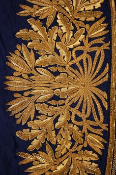 Court ensemble (image 8 - detail) | Italian | 1857-60 | silk, gold | Metropolitan Museum of Art | Accession Number: C.I.54.12.1a–e