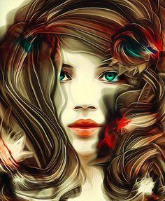 Beauty #bighair #face #woman #portrait #illustration #xocolate7 #appwhisperer #digitalart...