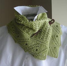 Lace Scarf Shawl - Knitting Pattern Downloadable PDF- Front Porch Fern Leaf Lace - spring scarf cowl shawl wrap -  pattern using sock yarn via Etsy