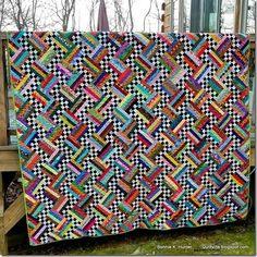 : Was für ein Tag ist es, wie auch immer? Jellyroll Quilts, Scrappy Quilts, Baby Quilts, Amish Quilts, Rail Fence Quilt, Quilting Designs, Quilting Ideas, Hand Quilting, Bonnie Hunter