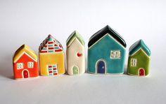 Charming ceramic houses