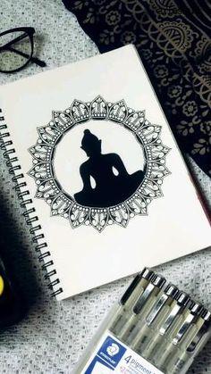 Easy Mandala Drawing, Mandala Sketch, Circle Drawing, Doodle Art Drawing, Mandala Art Therapy, Mandala Art Lesson, Mandala Artwork, Canvas Art Quotes, Doodle Art Designs
