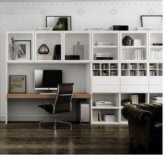 Bureau domicile moderne am nagement et d coration bureaux recherche et - Amenager bureau dans salon ...