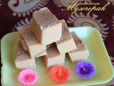 Mysorepak is a traditional south indian sweet which has a porous and melt in the mouth texture. It is made using a generous amount of Ghee. Melting In The Mouth, Sweet, Kitchen, Candy, Cooking, Kitchens, Cuisine, Cucina, Kitchen Floor