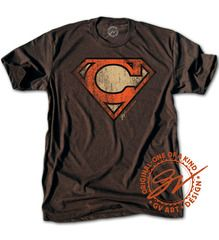 Birthplace of a Superhero. #Cleveland #Browns #Superman $25.00