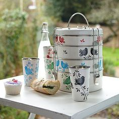 Hand painted tiffin