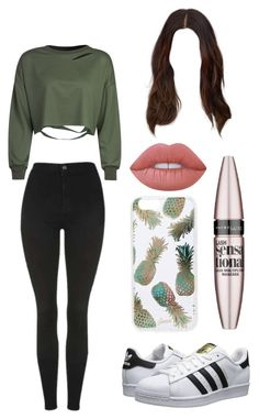 """Untitled #81"" by avaacord on Polyvore featuring Topshop, adidas Originals, Sonix, Maybelline and Lime Crime"
