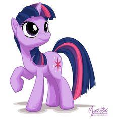 PonyDerivative - Twilight Sparkle - Twilight Sparkle Looking Up ❤ liked on Polyvore