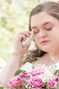 Bride crying during first look (hallelujah for waterproof makeup!)