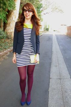 Love it, purple tights and all  // Not Going Out Like That blog