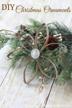 DIY Christmas Ornaments made from Recycled Toilet Paper Rolls @Tonya @ Love of Family & Home