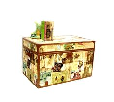Vintage Steamer Trunk Victorian Graphics Coffee by OceansideCastle