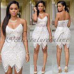 Amazing Lace Set! www.ChicCoutureOnline.com  #fashion #style #stylish #love #ootd #me #cute #photooftheday #nails #hair #beauty #beautiful #instagood #instafashion #pretty #girly #pink #girl #girls #eyes #model #dress #skirt #shoes #heels #styles #outfit #purse #jewelry #shopping