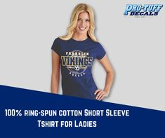 Order these ladies fit 100% ring-spun cotton short sleeve t-shirts for ladies from Pro-Tuff Decals. Check out these products for your relatable size and color. #tshirt #ladiestshirt #shortsleevetshirt