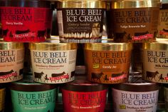 """blue bell ice cream from that """" lil creamery in Brenham"""". Truly the """"best ice cream in the country"""". I could live on this stuff! Blue Bell Creameries, Miss Texas, Only In Texas, Texas Forever, Never Be Alone, Loving Texas, Texas Pride, Best Ice Cream, Grocery Coupons"""