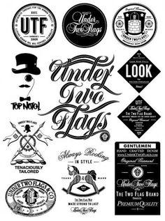 multiple retro logo and type