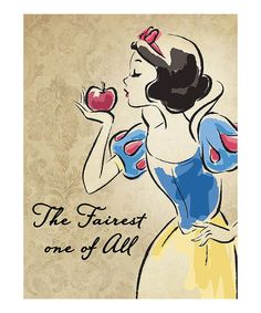 Another great find on #zulily! Snow White Vintage Fashionista Wrapped Canvas #zulilyfinds