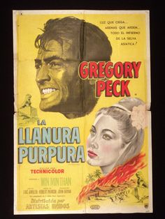 THE PURPLE PLAIN (1954) * GREGORY PECK * WIN THAN * ARGENTINE 1sh MOVIE POSTER