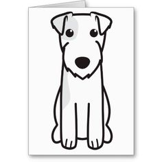 Parson Russell Terrier Dog Cartoon Greeting Card